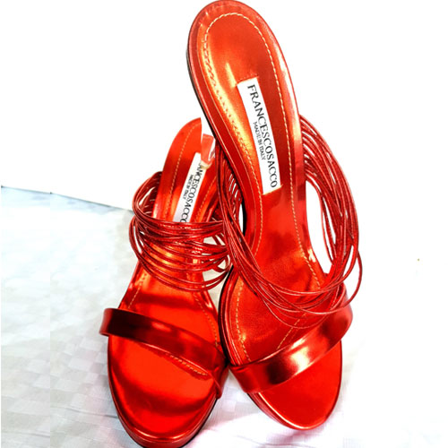 FRANCESCOSACCO WITH (GLASS HIGH HEEL) (RED)..